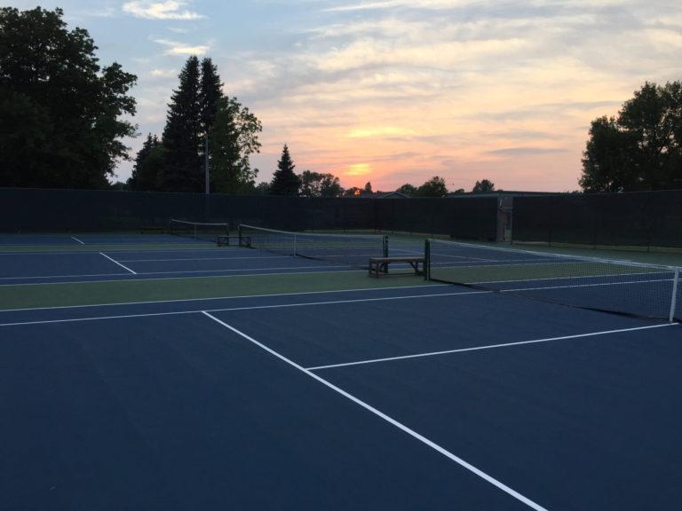Litchfield Tennis Courts at Dusk