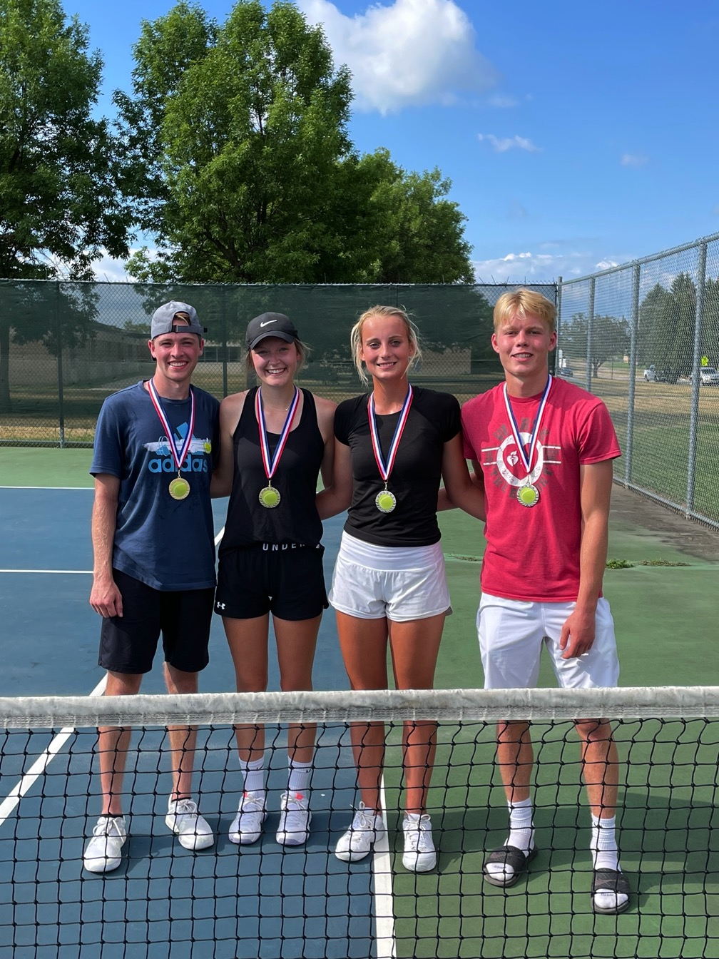 Mixed Doubles Final:  Champions Matthew Wedin and Taylar Smith - Finalists Avery Stilwell and Tyson Michels